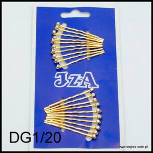 GOLD HAIR GRIPS WITH ONE JET DG1/20