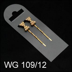 WAVED HAIR GRIP WITH JET WG 109/12