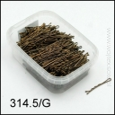 BROWN WAVED HAIRGRIPS 4.5 cm 500g 314.5/G