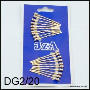 GOLD HAIR GRIPS WITH 2 JETS DG2/20