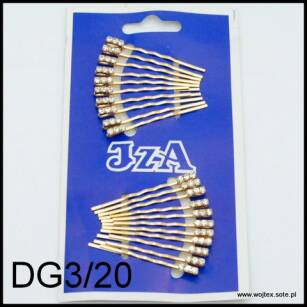 GOLD HAIR GRIPS WITH 3 JETS DG3/20